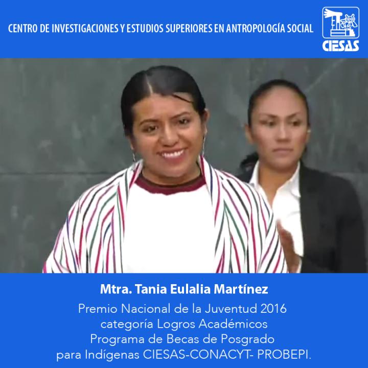 Esfuerzo y tenacidad: la historia de Tania Eulalia, Premio Nacional de la Juventud 2016